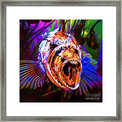 Creatures Of The Deep - Fear No Fish 5d24799 Square V2 Framed Print by Wingsdomain Art and Photography