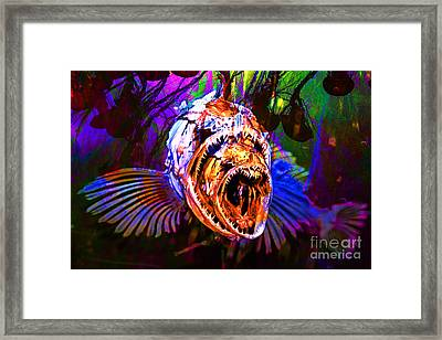 Creatures Of The Deep - Fear No Fish 5d24799 V2 Framed Print by Wingsdomain Art and Photography
