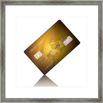 Credit Card Framed Print by Johan Swanepoel