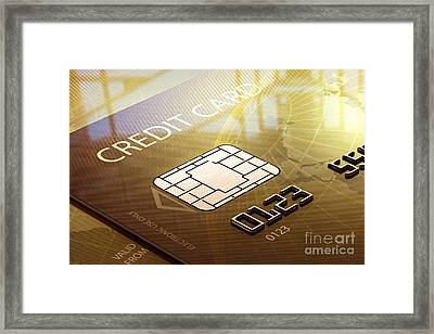 Credit Card Macro - 3d Graphic Framed Print by Johan Swanepoel