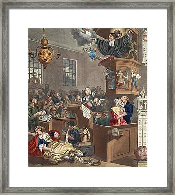 Credulity, Superstition And Fanaticism Framed Print by William Hogarth