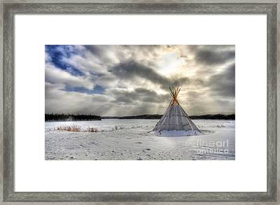 Cree Tepee Framed Print
