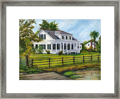 Creedmoor Plantation Framed Print by Elaine Hodges