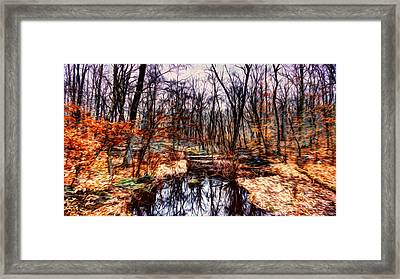 Creek At Pyramid Mountain Framed Print