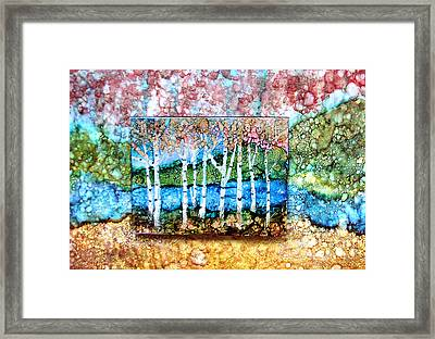 Creek Birches Framed Print by Alene Sirott-Cope
