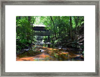 Creek Bridge Framed Print by Bob Jackson