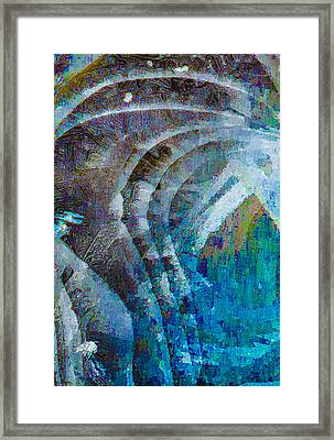 Creek Ice Abstract I Framed Print