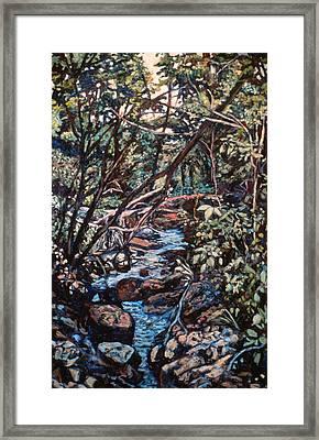 Creek Near Smart View Framed Print by Kendall Kessler
