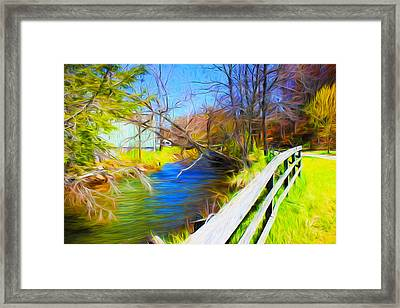 Creek Series 02 Framed Print by Carlos Diaz