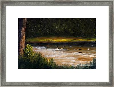 Creek Side Framed Print