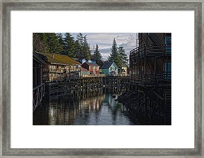 Framed Print featuring the photograph Creek St. Ketchikan Alaska by Timothy Latta