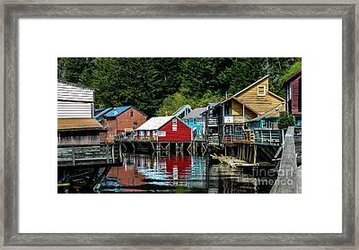 Creek Street - Ketchikan Alaska Framed Print by Debra Martz