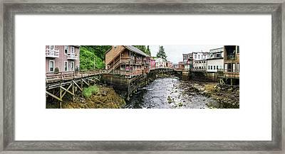 Creek Street On Ketchikan Creek Framed Print