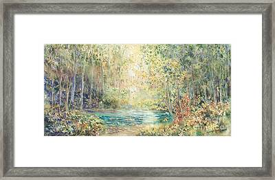 Creek Walk Framed Print by Marilyn Young