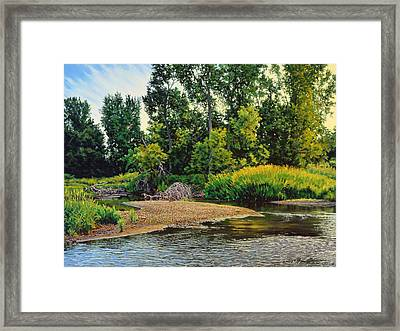 Creek's Bend Framed Print by Bruce Morrison