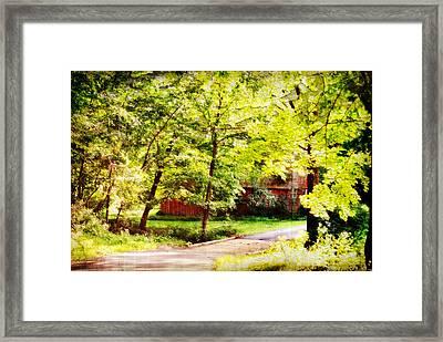 Creekside Barn Framed Print by Chastity Hoff