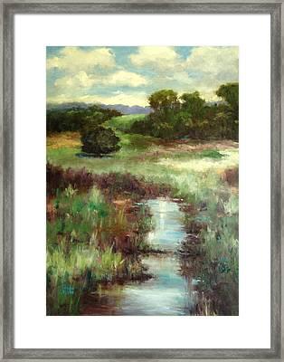 Creekside Morning Framed Print