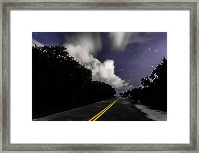Creeping Clouds Framed Print