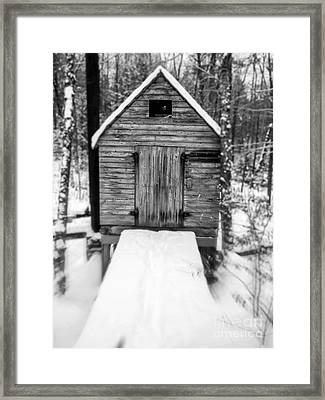 Creepy Cabin In The Woods Framed Print by Edward Fielding