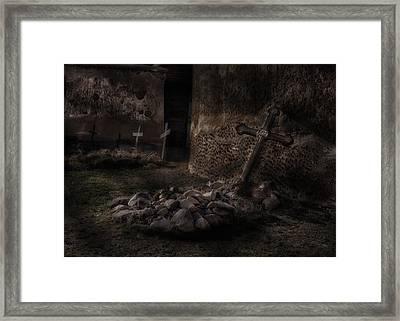 Creepy Crosses Framed Print by Gary Warnimont