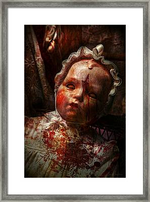 Creepy - Doll - It's Best To Let Them Sleep  Framed Print by Mike Savad