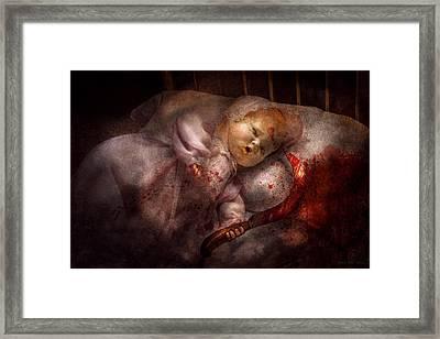 Creepy - Doll - Night Terrors Framed Print by Mike Savad