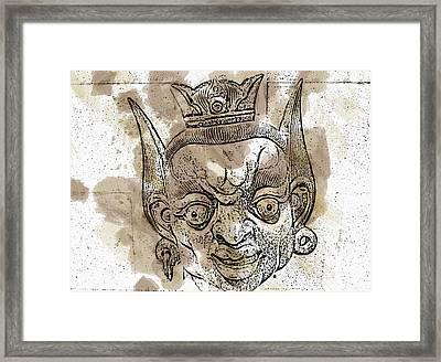 Creepy Mask Framed Print by Alice Gipson