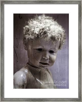 Creepy Old Doll Framed Print by Edward Fielding