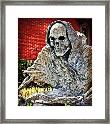 Creepy Reaper 2 Framed Print by Marty Koch
