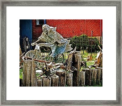 Creepy Reaper Framed Print by Marty Koch