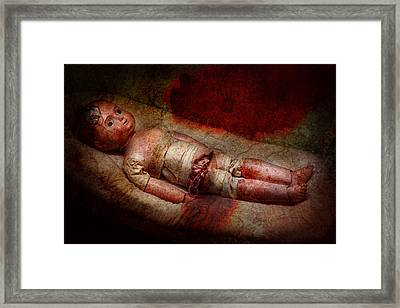Creepy - Weird - No One Ever Suspected  Framed Print by Mike Savad