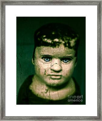 Creepy Zombie Child Framed Print by Edward Fielding