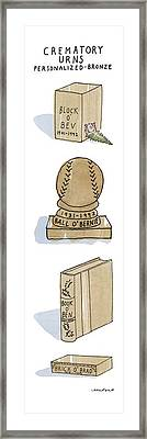 Crematory Urns Personalized - Bronze Block O' Bev Framed Print by Michael Crawford