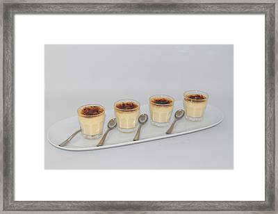 Creme Brulee Shots Framed Print by Ash Sharesomephotos