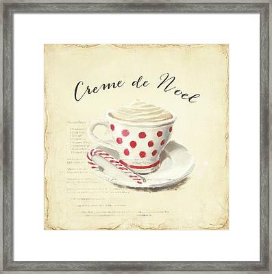 Creme De Noel Framed Print by Emily Adams