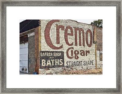 Cremo Cigar Framed Print by Cathy Anderson