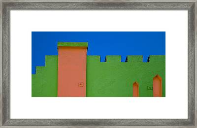 Crenellated Roof Framed Print