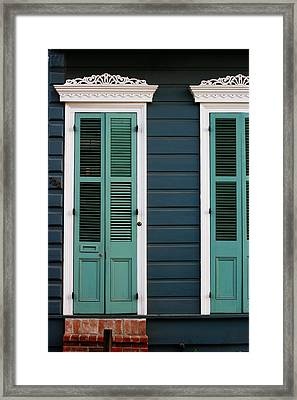 Framed Print featuring the photograph Creole Cottage by Heather Green