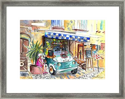 Creperie Bretonne In Collioure Framed Print by Miki De Goodaboom