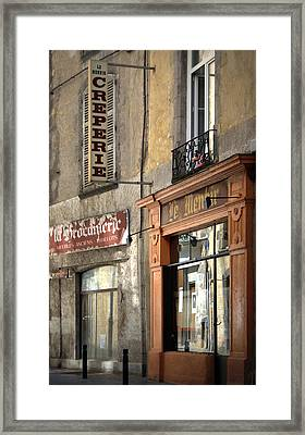 Creperie In Clermont Ferrand France Framed Print by Georgia Fowler