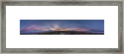 Crepuscular Burst  Framed Print by Sean King