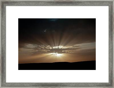 Crepuscular Rays Framed Print by Jon Wilson