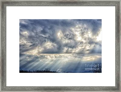 Crepuscular Rays Framed Print by Thomas R Fletcher