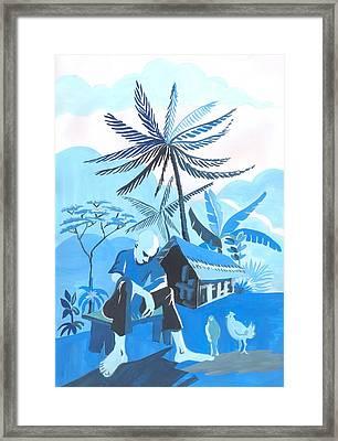 Crepuscule De Ma Cambuse Framed Print