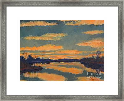 Crepusculo II Framed Print by Monica Caballero