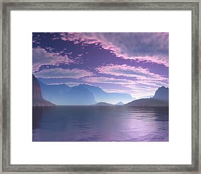 Crescent Bay Alien Landscape Framed Print