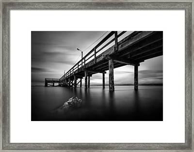 Crescent Beach Framed Print by Alexis Birkill