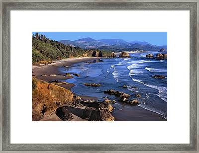 Framed Print featuring the photograph Crescent Beach Oregon by Matthew Ahola