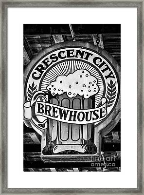 Crescent City Brewhouse - Bw Framed Print by Kathleen K Parker