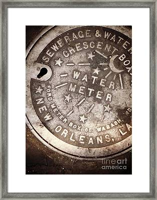 Crescent City Water Meter Framed Print